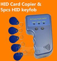 Free shipping! H  ID Card Copier 125KHZ RFID Reader Writer duplicator Duplicate Copy & 5 copy Card