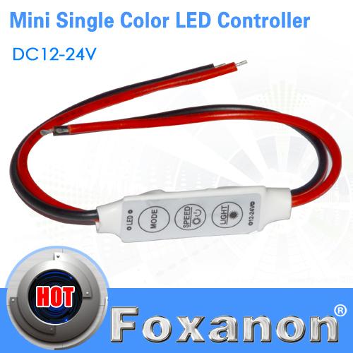 Foxanon Dimmer Controller Switch Mini DC 12V 3 Keys For Single Color 5050 3528 5630 5730 3014 Led Strip lamps Light lighting(China (Mainland))