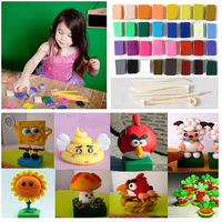 Malleable Fimo Polymer Modelling Soft Clay Blocks Plasticine Craft DIY Toy Free Shipping 32pcs/lot