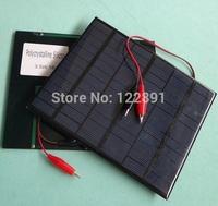 New 3.5W 18V Mini Solar Cell Polycrystalline Solar Panel+Crocodile Clip Diy Solar System For 12V Battery Charger FreeShipping
