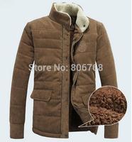 Men's Winter Jacket Fashion Cotton-padded Corduroy Vintage Outerwear Coat Design Wadded Jacket Big Plus Size Coat