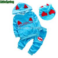 Retail ! In stock ! Children's clothing sets Autumn boys' long sleeve cartoon hoodies + long pants Little Spring GLZ-T0337