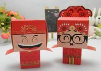 wedding favors Mario candy box for wedding  100pcs Bride + 100pcs Groom