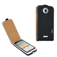 Genuine Leather Case For HTC  one X , Flip Real Leather Cover For HTC One X , 10pcs/lot free shipping
