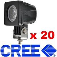 Wholesale 20pcs CREE 10W 12V-24V Universal Cars Led worklight Offroad working Headlights Spot/Flood Fog lamp (Aluminum + IP67)