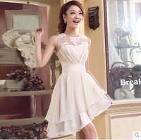 Fashion Short Lace Bridesmaid Formal Dress Wedding Dress for Bride S, M, L, XL
