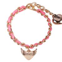 love heart charm bracelet angel wing lovely bracelet korea design bracelet
