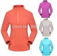 Women's Fleece Breathable Jacket Brand Sports Thermal Windstopper Long Sleeve Fleece Shirt Sweatshirt Hiking Overcoat Free Ship