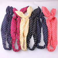 Wholesale 6pcs Lot Different Colours Vintage Wire Headband Hair Band Head Band Wrap Wired Head Scarf Rockabilly Free Shipping