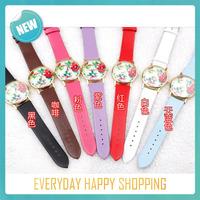 wholesale Casual New Fashion Leather GENEVA Rose Flower Watch Women Dress Watch stylish Quartz Watches orologio da polso