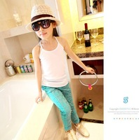 Children girl shirts tanks camisoles free shipping fashion sleeveless camisoles women's