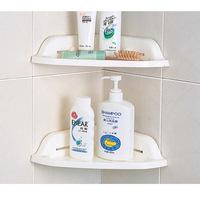 New 2014 with a sucker corner kitchen and bathroom storage rack shelving triangle corner shelf  B321 0.143kg