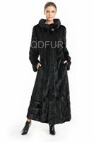 2014 Genuine Natural Stand-up Collar Mink Fur Coat Jacket Winter Women Fur Outerwear Parka Lady Overcoat QD70728