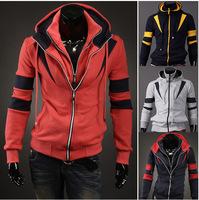 2014 new man hoody casual men's hoodie sweatshirt brand sports suit 6color hooded jackets coat plus thick fleece male hooded