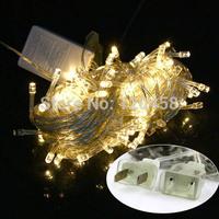 2014 Limited Freeshipping Cristmas Decoration Christmas Decorations New Wedding Party Warm White Led Light 10m W/ End Plug 110v