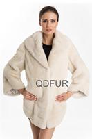 2014 Luxury Genuine Natural Mink Fur Coat Jacket with Collar Winter Women Fur Outerwear Coats Lady Overcoat QD70708
