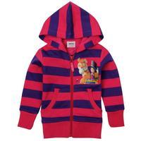 NOVA kids girls winter clothes cartoon tiger and little girl striped zipper up girls jacket hoodies F3259