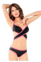 underwear women Design Bikini Lingerie  Around Dance Wear Set Black and Red sexy lingerie hot intimates women bra set  undies
