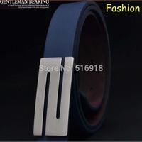 Free shipping 1 Piece---Fashion Leather Premium Z  Shape Metal Men's strap man Ceinture Buckle Belt men's belt