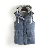 Ladies Fashion Vest,Hoody Vest,New 2014 Autumn and Winter Female Hoodie Detachable Vest,Fashion Casual Warm and Slim Vest Women