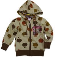 NOVA kids wear printed apples boys spring winter fashion hoodies Boys Warm coat Drop Shipping A3356