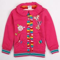 2014 Hot fashion Nova kids brand beautiful butterflies children clothing spring coat jacket for baby girls F2879