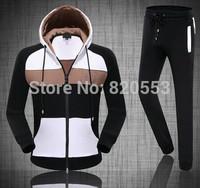 New  Autumn Men Sport Suit Brand Hooded Top+Full Pant Casual Tracksuit Hoody Sportwear Men Sweatshirt Set Size M-xxl