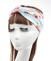 Floral Fabric Turban Headband cotton Cute Hair Bands design for Twist Headbands 6 colors 5pcs/lot