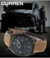 wholesale NEW 2014 New Curren Japan Movt Date clock leather strap Men's sports military watch 100M Waterproof Men wrist watch