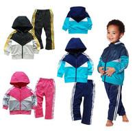 SH Retail 2014 New Hot Sale 2pcs/set Kids Baby Suit Boys Girls Long Sleeve Shirt + Pant Sport Clothes Hoodies Children Clothing