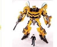 Robot Human Alliance Bumblebee and Sam Transformasi Anime Movie 4 Model Action Figures Classic Toys Boys Cartoon Comics Gift