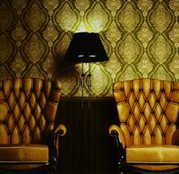 European Luxury 3D Embossed Living Room Backdrop Vinyl Wallpaper Gold Foil Glitter Damascus Fresco Waterproof Study Wall Paper