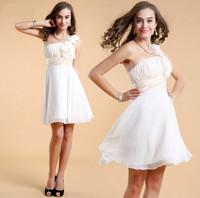Hot Sale  Bridesmaid Costume Ladies Chiffon Dress  Women Floral Evening Dress Stereo Flowers Beautiful Evening Dress Graceful