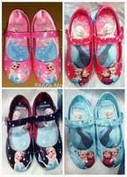 Hot New Kids Girls Frozen Anna Elsa Flats Shoes Children Princess Cartoon Shoes Fashion Dance Sneakers Shoes 6 sizes  #TR36