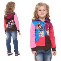 NOVA kids brand children clothing cartoon winter  zipper up hoodies jacket coat for baby girls F3252