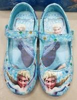 Free Shipping Kids Girls Frozen Anna Elsa Flats Shoes Children Princess Shoes Fashion Dance Sneakers Shoes 5 sizes  #TR36