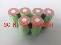 free shipping   500pcs/lot 10C discharge rate 2000mAh SubC SC NiCD rechargeable cell with solder tags