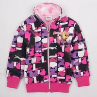 children's sweatshirt NOVA kids brand 2014 new girls wear winter clothes printed zipper up jacket hoodies coat for girls F3313