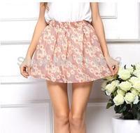 Chiffon Skirts Hot Sale Skirts Fashion Floral Skirts South Korea Velvet  Opaque Chiffon Skirts 13626