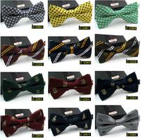 Wedding  ties  men groomsman  striped  dot  Plaid  bow  tie 41 models