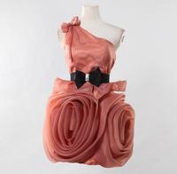 Pre-sale Womens Beautiful Evening Dress  Bridesmaid Costume Ladies Organza Dress Stereo Flower Dress One Shouder Romantic