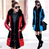 2014 new fashion winter coat women thicken PU fur collar Slim cotton padded Down jacket,winter jacket women coat #C49703