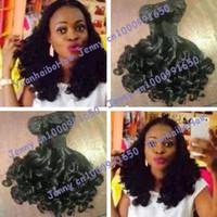 Super 6a quality 3pcs/lot #1b peruvian human hair spanish curls virgin funmi hair weaving free shipping