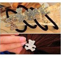 T301 Alloy imitation diamond crystal rhinestone bow hair accessories Shengpi tendons cartoon images jewelry