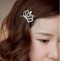T302 South Korea imported a small fresh sweet temperament ladies small crown hairpin edge clip bangs