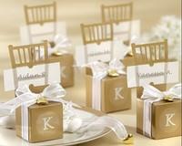 Wedding White gold Chair Candy Box Wedding Gift Box Wedding Favors100pcs/lot free shipping