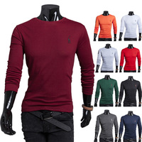 Free shipping 2014 hot sale new arrive autumn fashion men's long sleeve t-shirt casual slim Deer embroidery o-neck men t-shirt