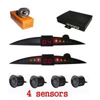New Fashion Mini Small Crescent-shape LED Display 4 Sensors Reversing Parking Sensor Car Parking Radar System Free Shipping