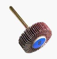 "Flapwheel, 3/8"" Thick, 1/8"" Shank, 120 Grit"