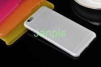 1000pcs/lot 0.3MM UltraThin 4.7 inch Phone Cases Clear Transparent Crystal Matte Frosted Soft PP Slim Cover For iPhone 6 Case